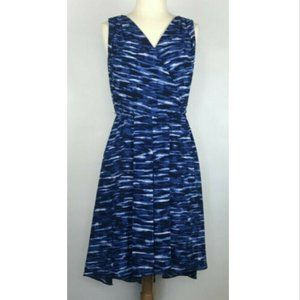 AK ANNE KLEIN Sleeveless Cinch Waist Sun Dress